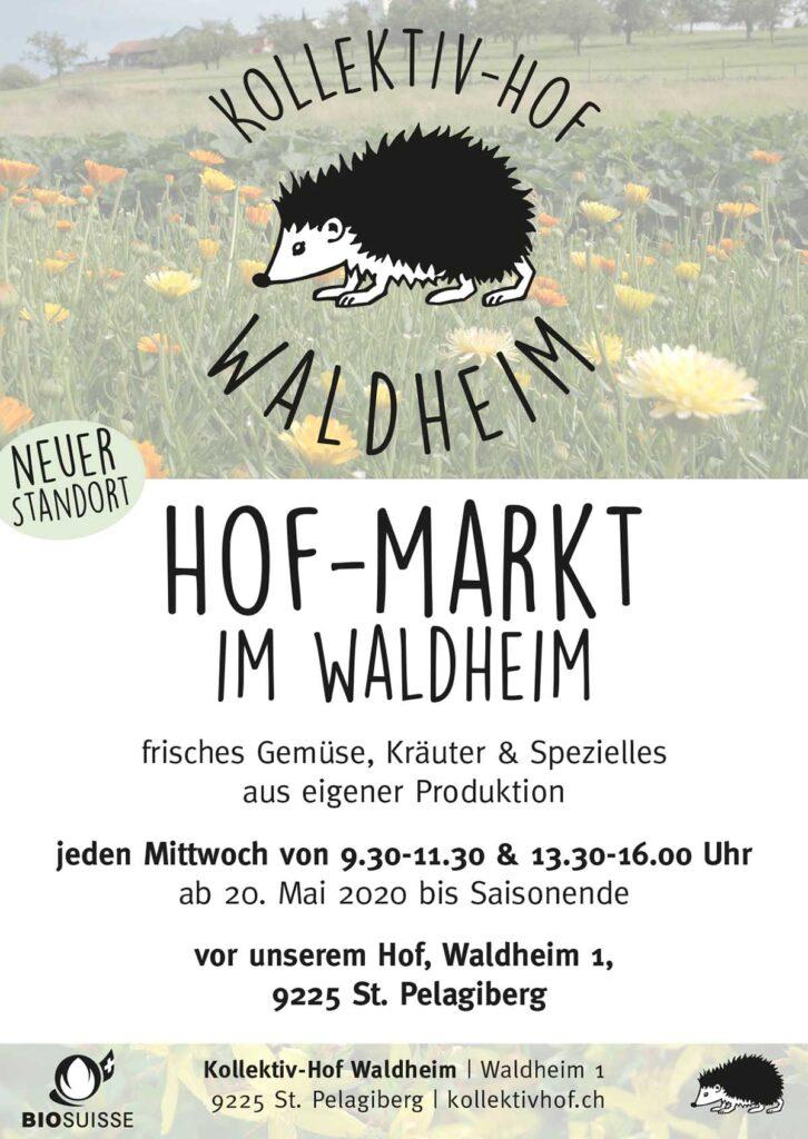 Flyer Hof-Markt / Hofladen im Waldheim